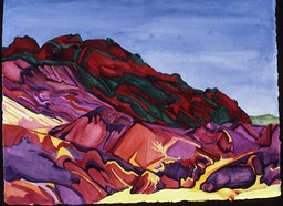 ©1986 Jan Aronson Death Valley #6 Watercolor on Paper 23X30