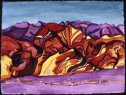 ©1986 Jan Aronson Death Valley #3 Watercolor on Paper 23X30