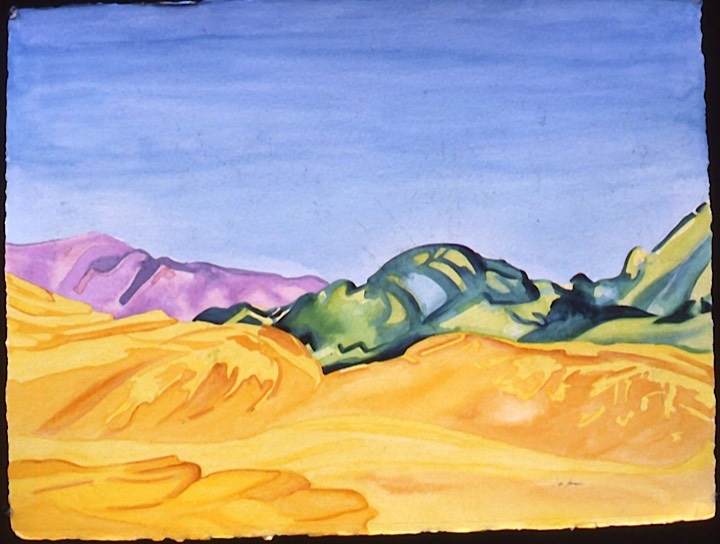 ©1986 Jan Aronson Death Valley #5 Watercolor on Paper 23X30