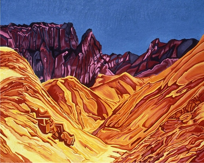 ©1986 Jan Aronson Death Valley #15 Oil on Canvas 40x48