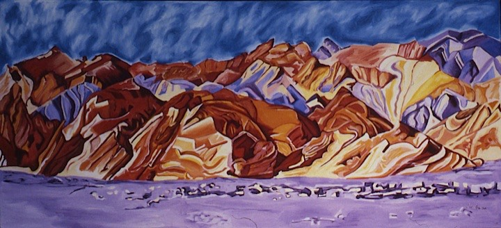 ©1987 Jan Aronson Death Valley #18 Oil on Canvas 22x47