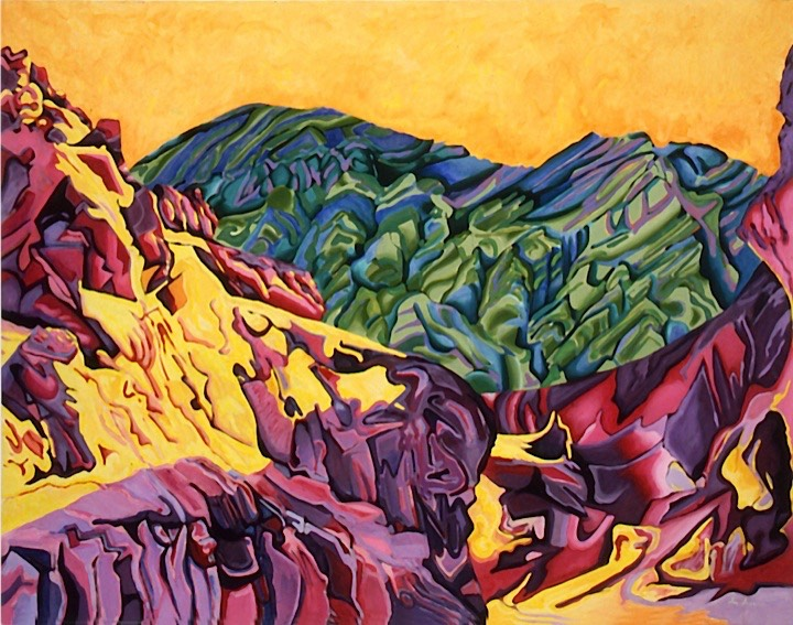 ©1987 Jan Aronson Death Valley #22 Oil on Canvas 42x54