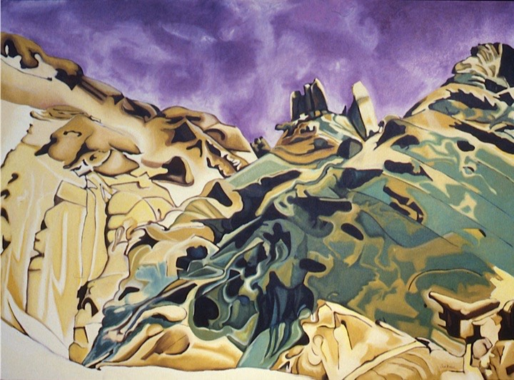 ©1987 Jan Aronson Sinai #4 Oil on Canvas 44x60