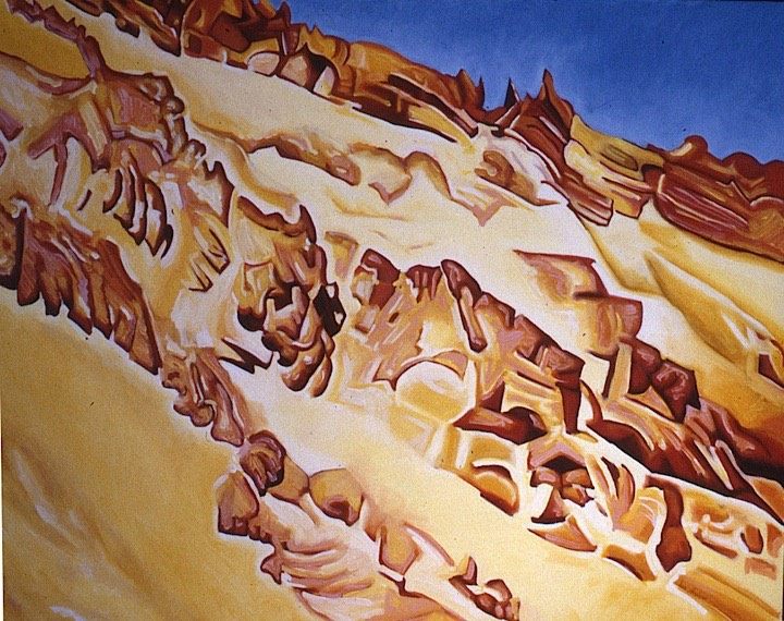 ©1988 Jan Aronson Ladakh #2 Oil on Canvas 32 x 40