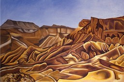 ©1988 Jan Aronson The Negev Dreams Discovered Oil on Canvas 28x40