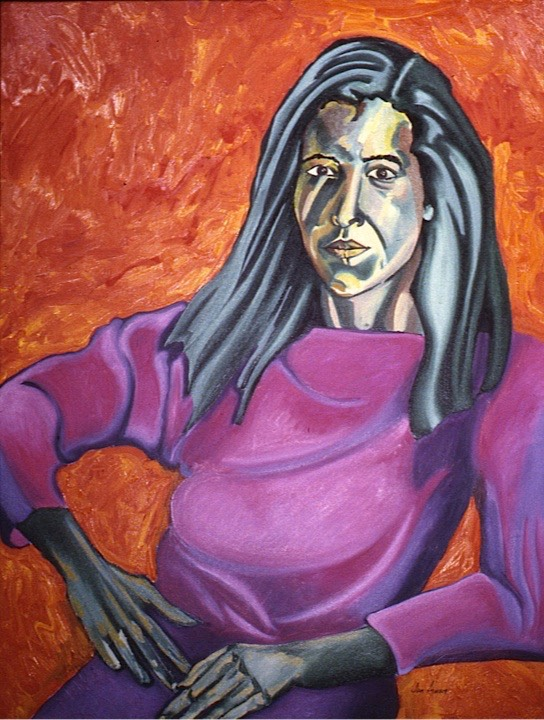 ©1989 Jan Aronson Portrait of Helen Oil on Canvas 36x28