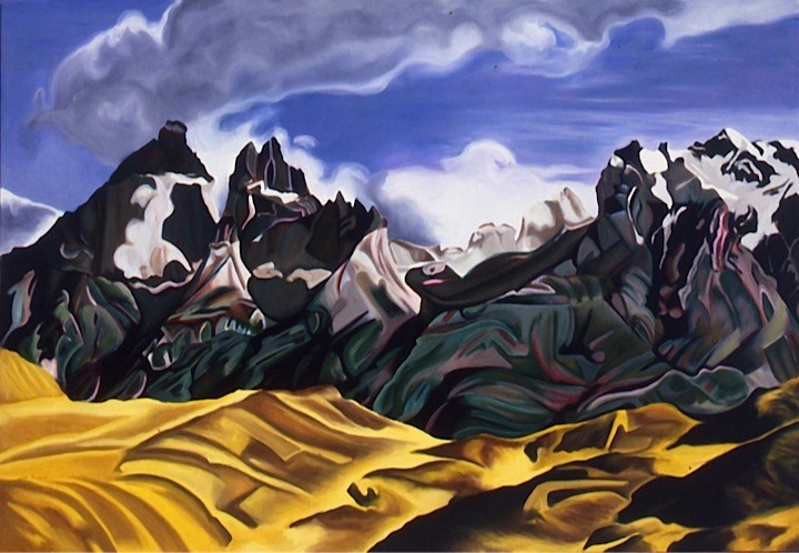 ©1990 Jan Aronson Patagonian Landscape The Horns Oil on Canvas 40 x 58