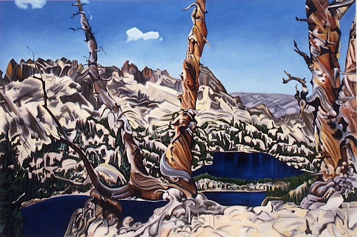 ©1992 Jan Aronson Baron Divide Oil on Canvas 36X54 SOLD