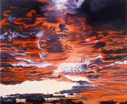 ©1993-95 Jan Aronson Sunset Mustique Oil on Canvas 42x50