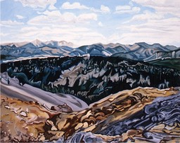 ©1993 Jan Aronson Above Cabin Creek Oil on Canvas 24X30