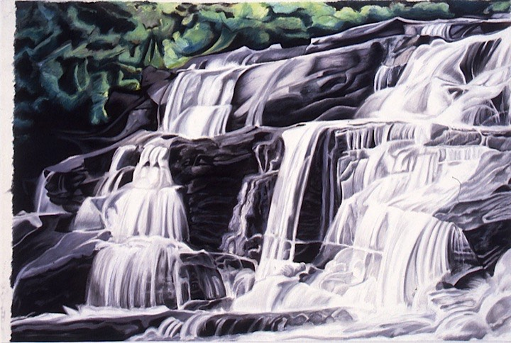 ©1993 Jan Aronson O'Briens Waterfall #6 Pastel on Paper 31X46