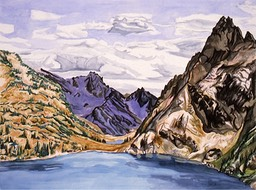 ©1993 Jan Aronson Sawtooth Lake #1 Watercolor on Paper 18X24