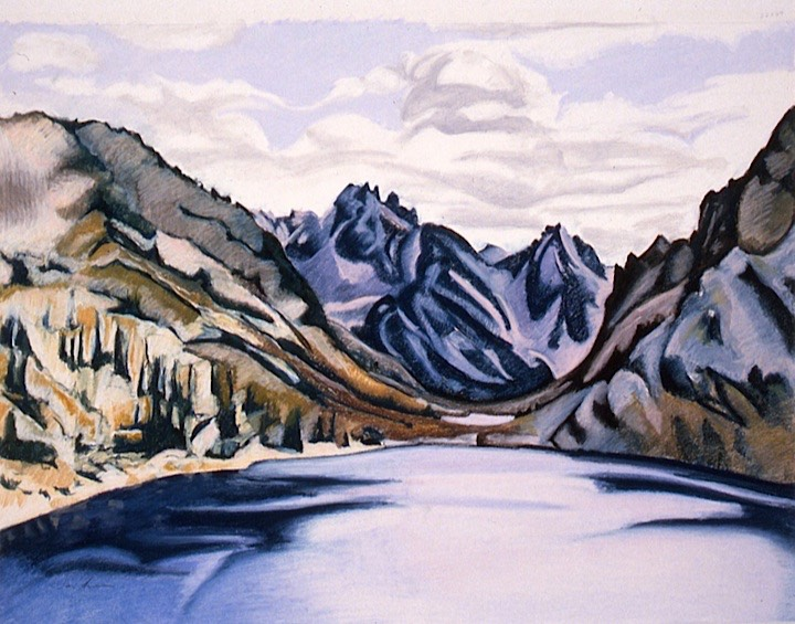 ©1993 Jan Aronson Sawtooth Lake #2 Pastel on Paper 22x29