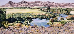 ©1993 Jan Aronson Silver Creek #9 Oil on Canvas 28X60