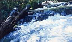 ©1994 Jan Aronson Bench Creek #2 Oil on Canvas 42x72 SOLD