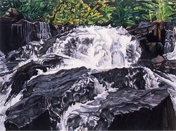 ©1994 Jan Aronson O'Briens Waterfall #8 Watercolor on Paper 18X24