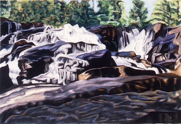 ©1994 Jan Aronson O'Briens Waterfall #10 Pastel on Paper 20X30.75