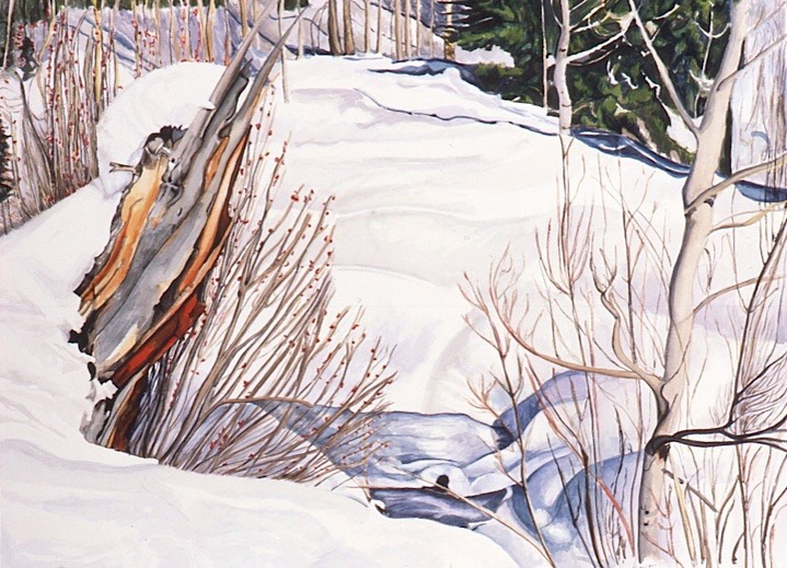 ©1995 Jan Aronson Boulder Creek #5 Watercolor on Paper 18x24