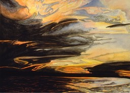 ©1996 Jan Aronson Amazonian Sunset #3 Watercolor on Paper 18x24