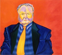 ©1996 Jan Aronson Portrait of Arthur Oil on Canvas 32x36