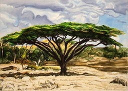 ©1997 Jan Aronson Kenya #13 Watercolor 10x14
