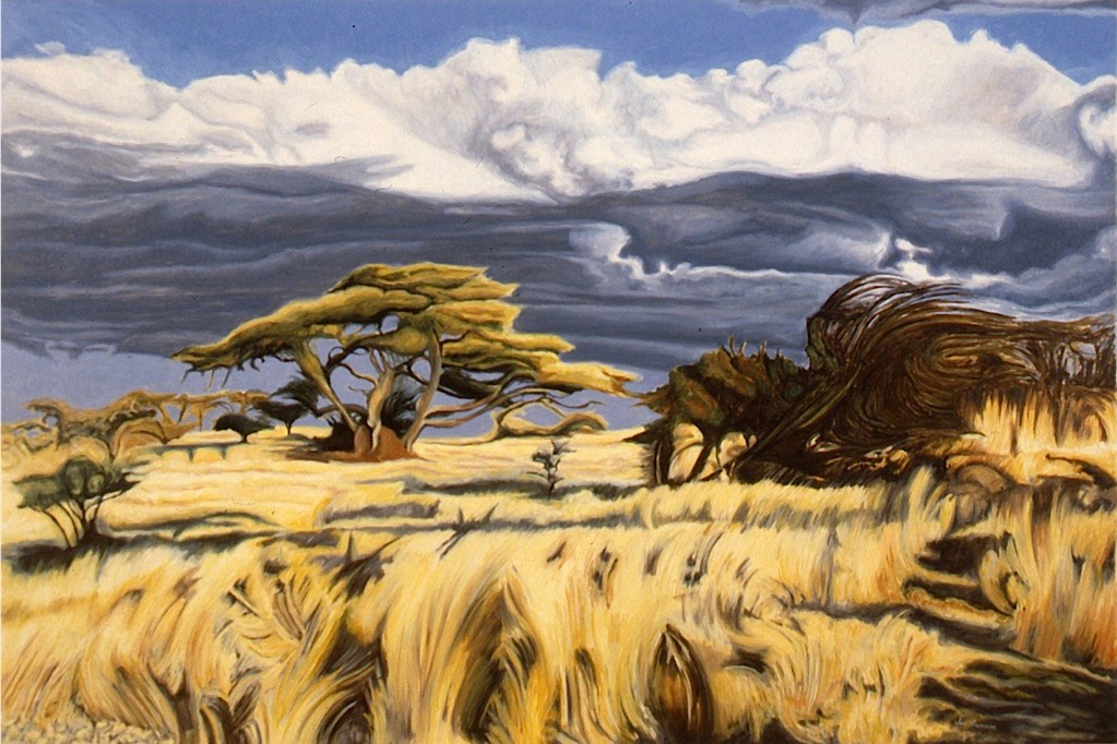 ©1997 Jan Aronson Kenya #1 Oil on Canvas 28x42