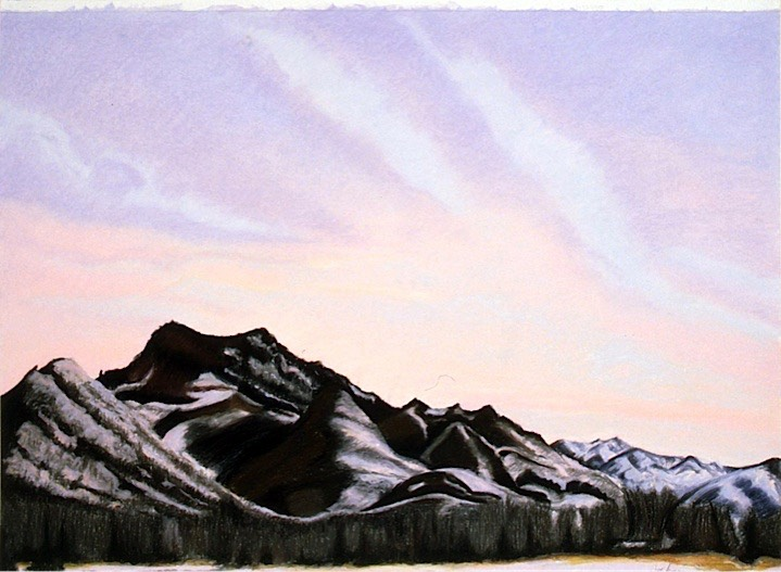 ©1998 Jan Aronson Idaho Sunrise #2 Pastel on Paper 21.5x30