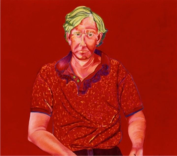 ©1998 Jan Aronson Portrait of Willie Oil on Canvas 32x36-1