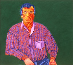 ©2000 Jan Aronson Portrait of Edgar #2 Oil on Canvas 32x36