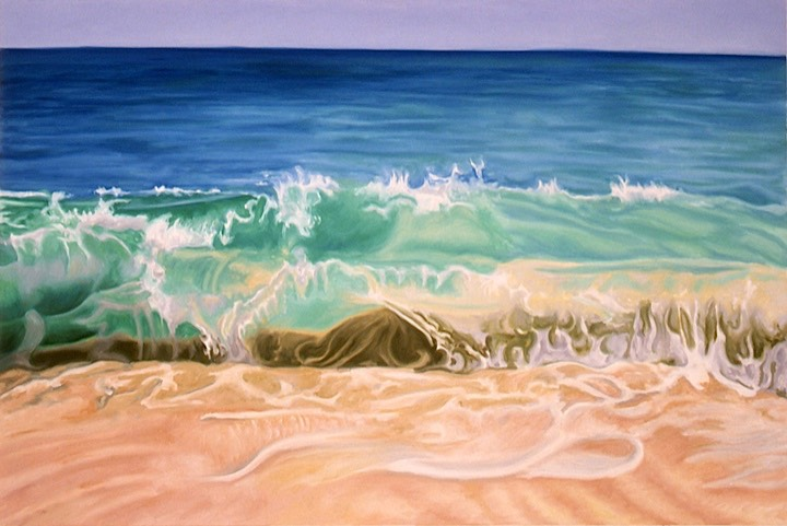 ©2001 Jan Aronson Anguilla #5 Oil on Canvas 28x42 SOLD
