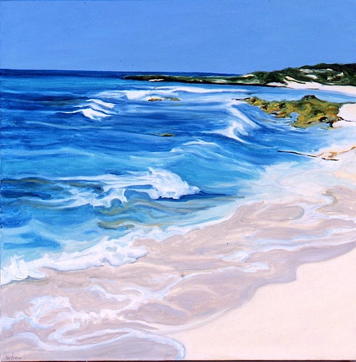 ©2001 Jan Aronson Anguilla #15 Oil on Canvas 16x20 SOLD