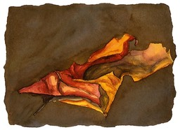 ©2001 Jan Aronson Leaf #10 Watercolor Paper 6.25x8.5