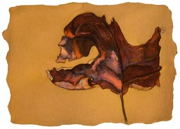 ©2001 Jan Aronson Leaf #14 Watercolor Paper 6.25x8.5