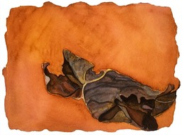 ©2001 Jan Aronson Leaf #2 Watercolor Paper 6.25x8.5
