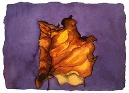©2001 Jan Aronson Leaf #5 Watercolor Paper 6.25x8.5