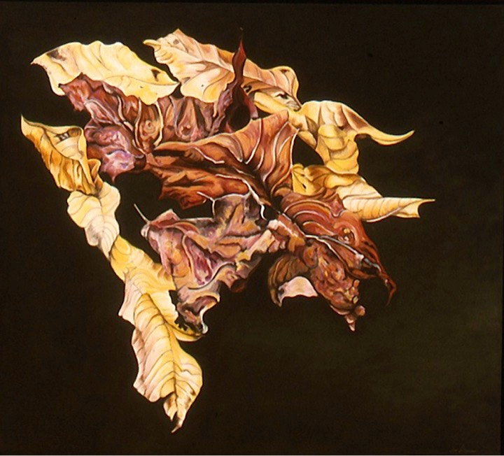 ©2002 Jan Aronson Leaves #8 Oil On Canvas 32x36