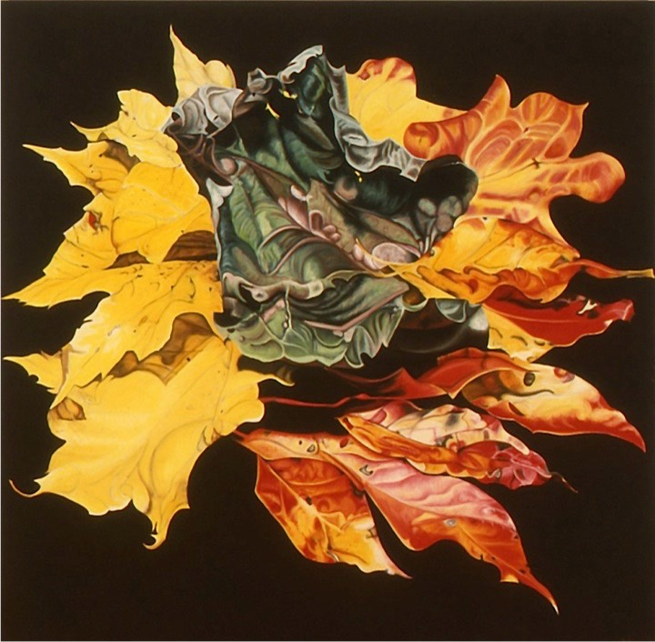 ©2003 Jan Aronson Leaves #22 Oil On Canvas 84x84