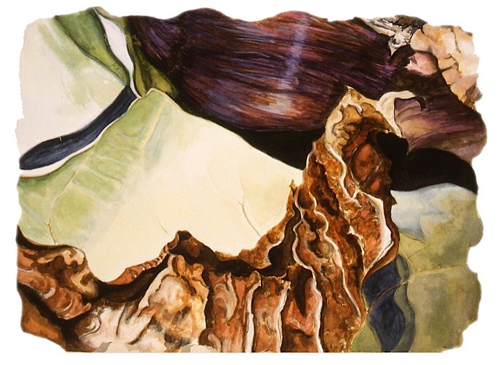 ©2005 Jan Aronson Leaves #34 Watercolor & Gouache - Paper 11x15