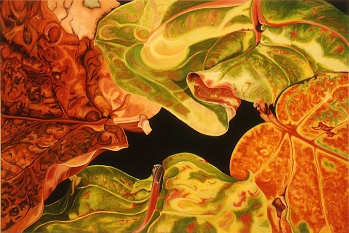 ©2005 Jan Aronson Leaves #42 Oil On Canvas 40x60