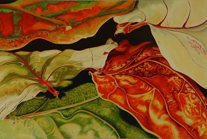 ©2005 Jan Aronson Leaves #49 Oil On Canvas 28x42