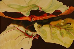 ©2005 Jan Aronson Leaves #50 Oil On Canvas 28x42 SOLD