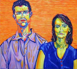 ©2008 Jan Aronson Portrait of Adam and Marla Oil on Canvas 32x36