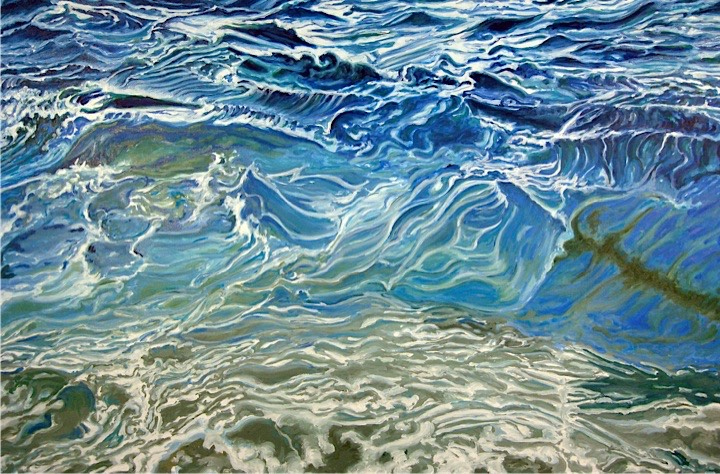©2008 Jan Aronson Water Series #8 Oil on Canvas 28x42SOLD