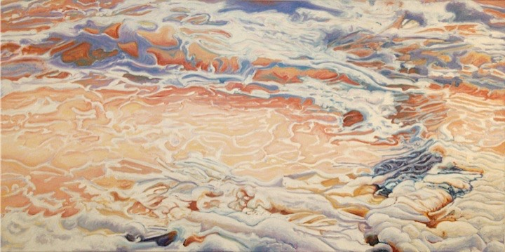©2008 Jan Aronson Water Series #9 Oil on Canvas 30x60
