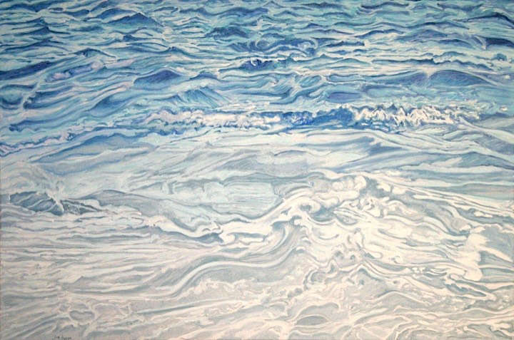 ©2008 Jan Aronson Water Series #12 Oil on Canvas 28x42