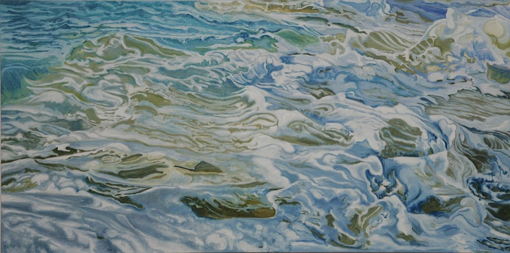 ©2008 Jan Aronson Water Series #14 Oil on Canvas 30x60