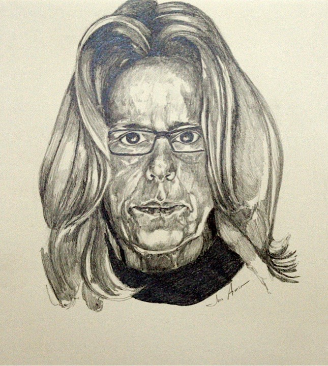 ©2009 Jan Aronson Self Portrait Graphite on Paper 14x16