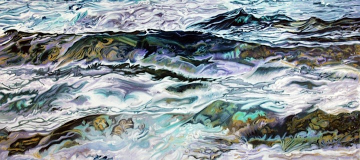 ©2009 Jan Aronson Water Series #27 Oil on Canvas 36x80SOLD