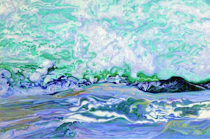 ©2010 Jan Aronson Water Series #29 Oil on Canvas 28x42SOLD
