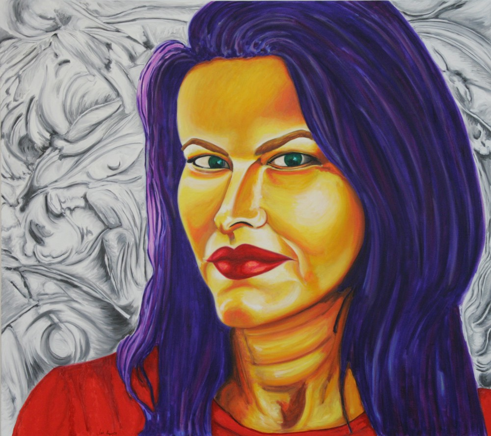 © 2012 Jan Aronson - Portrait of Romy, Oil on Canvas, 32x36